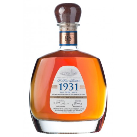 St. Lucia Rum 1931 6th. Edition 46%