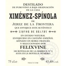 "Ximénez-Spinola Brandy ""Felixvine Edition"". speciel udvalgt. Fra verdens bedste brandy producent."