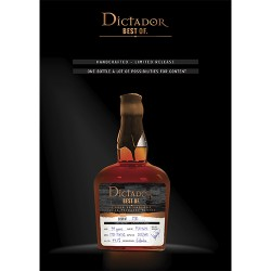 Dictador Rum The best of 1981 43,10%
