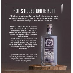 Mhoba Pot Stilled White rum