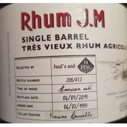 Rhum JM Rhum Vieux Single Barrel 1999 Ping 14