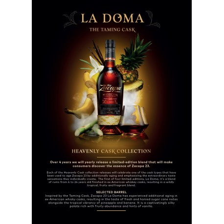 Ron Zacapa LA DOMA Heavenly cask collection forsalg