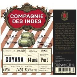 Compagnie des Indes Cdi Guyana Porto Cask Finish 14Y. 62,4%